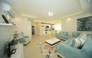 Large one bedroom apartment in a new building, cheap Mahmutlar, Alanya