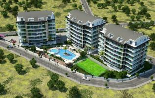 Spacious apartments in a newly built complex, Oba, Alanya