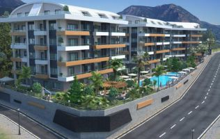 Luxury apartments in the newly built complex, oba, Alanya