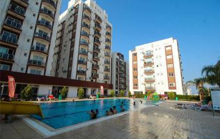 Apartments in a modern complex on the beach in Famagusta, North Cyprus.