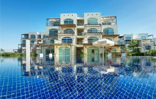 Studio apartments, 1 + 1, 2 + 1, 3 + 1 in a luxury new complex on the beach, Guzelyurt, Northern Cyprus.