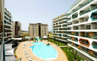 A small apartment in a luxurious residential complex, Avsallar