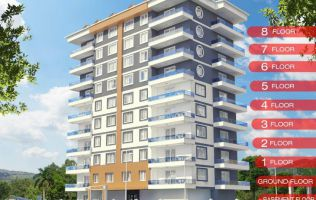 A new project in Alanya Mahmutlar! Pleasant prices and only 400 meters from the sea.