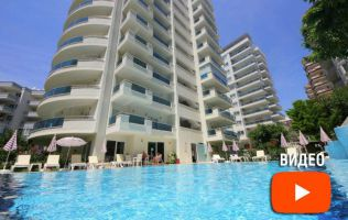 Inexpensive apartment 1 + 1 with furniture in Alanya . Mahmutlar