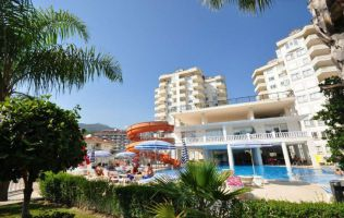 Fully-furnished apartment in a residence with infrastructure in Cikcilli, Alanya