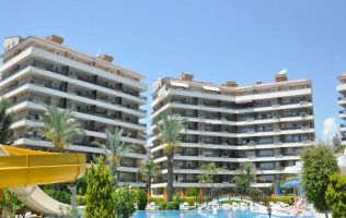Large furnished penthouse in Alanya, on the shore of Dimchay