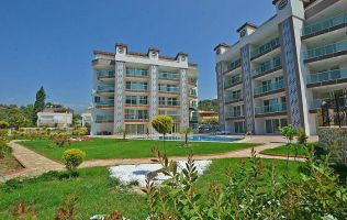 One-bedroom apartment in a lovely riverside residence in Alanya, Tosmur