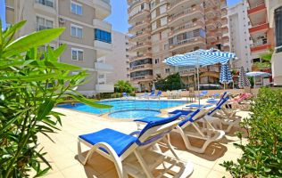 Fully-furnished one-bedroom apartment in Mahmutlar,150 m to the beach