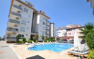 Fully-furnished two-bedroom apartment at the seaside in Kestel/Alanya