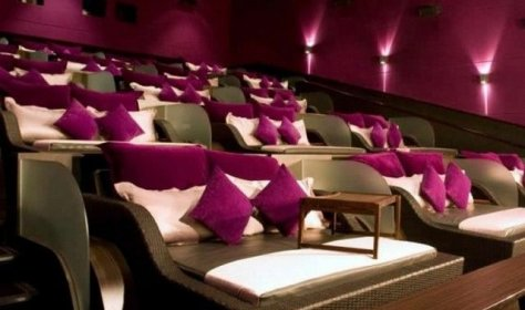 In the Istanbul cinema you can watch movies while lying in bed