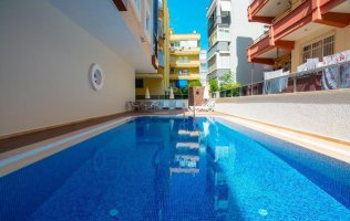 Furnished 1-bedroom apartment in the center of Alanya