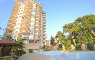 Apartment in Alanya, Cikcilli, with a panoramic view