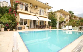 Fully furnished three-bedroom villa in Alanya, Kargicak, with a private pool