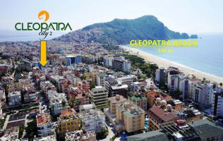 New residential project in the center of Alanya 150 meters from the sea
