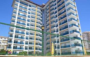 Новая квартира 1+1 в Аланье, в жилом комплексе, р-н Махмутлар