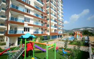 New apartment overlooking the sea in Mahmutlar, in a luxury complex