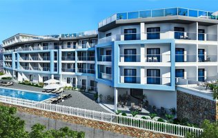 Apartments  in a new residence in Kargicak Alanya with 12 months payment installment with %0 interest