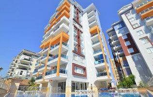 Spacious 1-bedroom apartment in the luxury complex in Tosmur Alanya