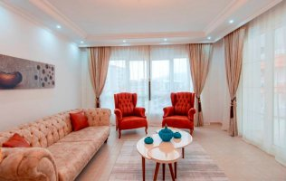 A new spacious apartment with a panoramic windows 2+1 in Tosmur Alanya
