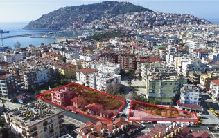 A new luxury residence is under construction in Alanya center