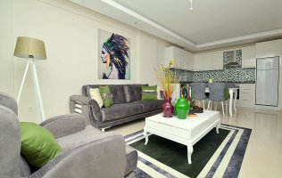 1+1 apartment with a new furniture in Tosmur Alanya