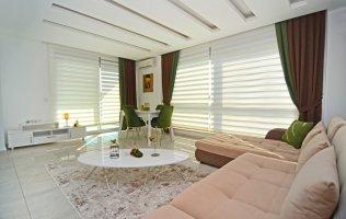 Меблированная квартира 1+1 в современном комплексе, в  Алании, Кестель