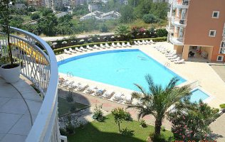 2-bedroom apartment in Alanya, Tosmur with a perfect view