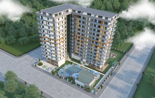 Новый проект в Алании р.Махмутлар  всего 250 м от моря!!!