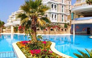 Вилла с частным бассейном в 400 м от пляжа в Аланье р.Конаклы
