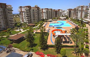 Large apartment with 2 bedrooms in the famous Orion city complex, Avsallar