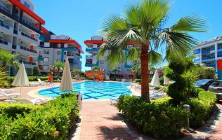 Apartment with sea view in  Kestel, Alanya