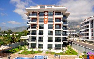 Апартаменты с видами на море и горы в комплексе с инфраструктурой в Алании, Кестель