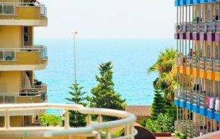Просторная квартира 2+1 с видом на море в Алании, Махмутлар