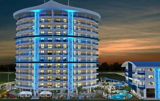 Новая квартира 1+1 в комплексе с богатой инфраструктурой в Алании, Махмутлар