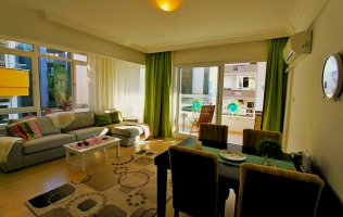 Furnished 2+1 apartment, 100 m from Cleopatra Beach, Alanya