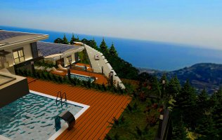 New project of villas in Bektash, Alanya