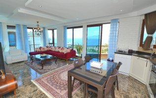 Apartment with stunning sea view in Kargicak, Alanya