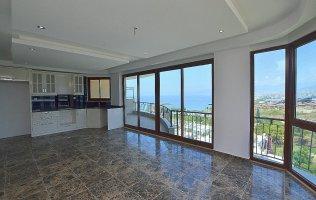 Apartment with beautiful sea view in Kargicak, Alanya
