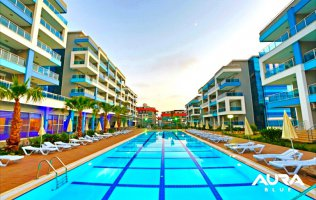 New spacious apartment in Alanya in the luxury complex Aura Blue