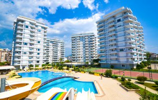 Furnished 2+1 apartment in a luxury complex in Tosmur, Alanya