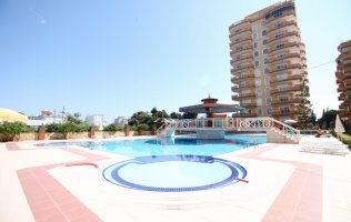 Apartment with sea view in Alanya, Mahmutlar in a modern complex